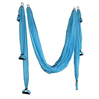 carejoy Fitness Yoga Swing d'inversion anti-gravité Antenne Pilates Yoga Volant Hamac Max 150kg, avec un sac portable