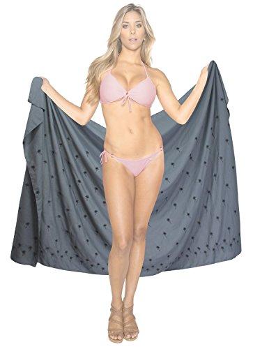 trajes de baño del bañador del traje de baño más complejo pareo encubrimiento de la falda del bikini Gris