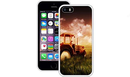 Traktor | Handgefertigt | iPhone 5 5s SE | Weiß TPU Hülle
