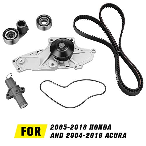 - DWTB0003 Water Pump Timing Belt Kit with Tensioner for 2003-2014 Honda | 2003-2014 Acura | 2004-2007 Saturn (Fits V6-3.5L, 3.7L, 3.0L, 3.2L Engine)