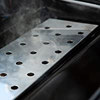 Smoker Boxes Gas Grill V-Smoker Charcoal Box Reusable Stainless Steel Long New