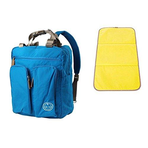 YuHan de fotos de bebé bolsa de pañales bolsa de palos de diseño de medios de transporte de la mochila de con correa para el hombro cable de seguridad para aire bloc de notas rejilla para carrito de b azul