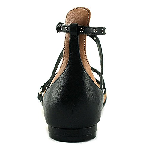 Neuf Ouest Womens Aweso Strappy Bout Pointu Appartements Noirs