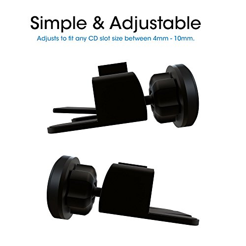 Car Mount TechMatte MagGrip Mini CD Magnetic Car Mount Holder for Smartphones including iPhone X, 8, 7, 6, 6S, Galaxy S8, S7, S7 Edge - Black by TechMatte (Image #1)