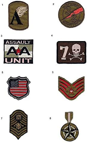 8 parches militar bordados para planchar - REF.5125-U8: Amazon.es ...