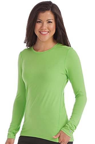 Med Couture Women's 'Activate' Performance Long Sleeve Knit Tee, Apple, Medium