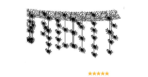 Henbrandt Halloween 3m Hanging Spider Decoration - Hanging Spiders from Ceiling - Spiders Attack Foil Ceiling Hanging Decoration - 3m x 30cm by: Amazon.es: Juguetes y juegos