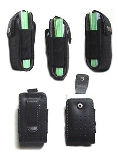 - NEW Belt clip Business Card Holster Holder Company corporate Pro marketing sales Black Leather Case Cards