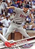 2017 Topps Opening Day #116 Chris Sale Baseball Card - Wearing a Boston Red Sox uniform!