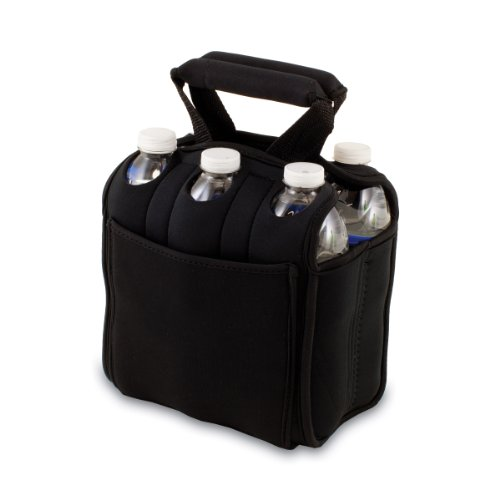 ONIVA - a Picnic Time Brand Six Pack Insulated Beverage Tote, Black