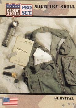 Survival trading card (Desert Storm) 1991 Pro Set #174 Military Skill