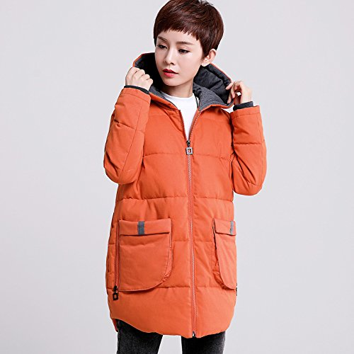 Cotton Thick Big Cotton Clothes Aged Yards Ladies Long Winter The Orange Coat Middle Winter Jackets Xuanku w4vO0SCxq4