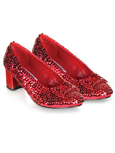 Child Red Sequin Shoes - XL]()