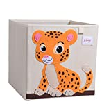 MAXYOYO 13 Inch Storage Bins Kids Toy Storage Organizer Foldable Cube Box, Storage Cubes Organizer for Kids & Children Toys, Blankets, Clothes - Perfect for Playroom & Living Room