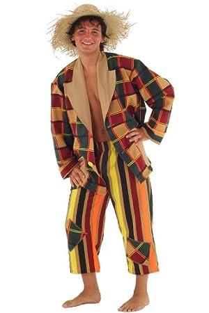 Disfraz de espantapájaros para Hombre Talla L Vagabundo: Amazon.es ...
