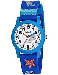 Relógio Masculino Infantil Azul Q&Q Prova D'Água Ponteiro