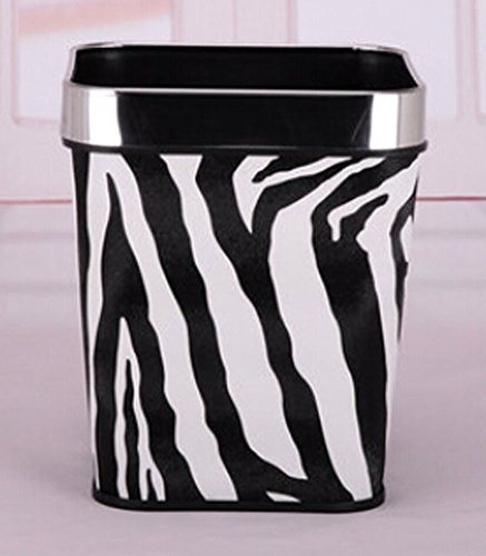 zebra garbage can - 1