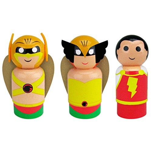Hawkgirl Mini - Bif Bang Pow! DC Classic Set of 3 Hawkman, Hawkgirl, Shazam Pin Mate Wooden Figure