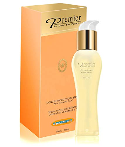 Premier Dead Sea Classic Concentrated Serum for face with Vitamin E & C, Age defying, Facial Serum 1.6 FL.oz (Best Over The Counter Age Defying Products)