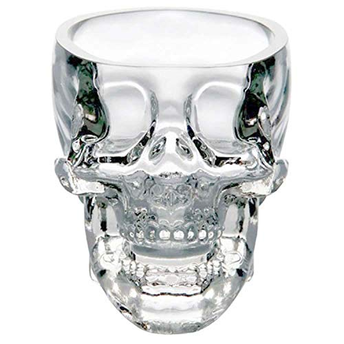 Crystal Skull Head Shot Glass Cup for Whiskey Wine Vodka Transparent Home Drinking Ware Man Gift Cup,300ml (Wine Head Stopper Moose)