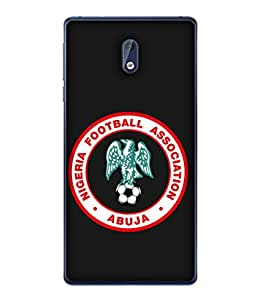 ColorKing Football Nigeria 03 Black shell case cover for Nokia 3