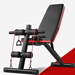 【Fast Delivery】Weight Bench Adjustable, Workout Bench Press, Foldable Incline Decline Sit Up Exercise bench, Flat Strength Training Benches for Home Gym