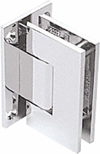 CRL Geneva 337 Series Chrome Adjustable Wall Mount Full Back Plate Hinge