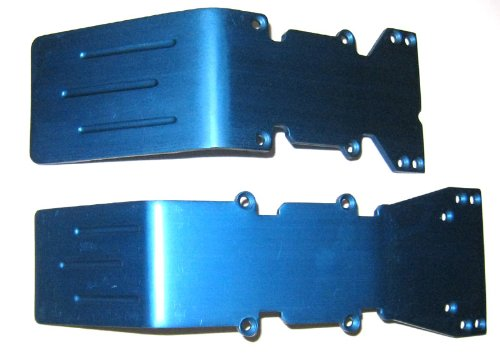 T-Maxx, E-Maxx Blue Anodized Aluminum skid plate set for sale  Delivered anywhere in USA