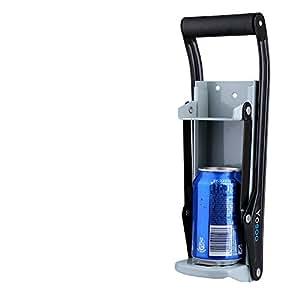Prensa Latas, Heavy Duty 16onzas Puede Trituradora Herramienta para Reciclar Soda de Cerveza con Abrebotellas Soft Grip Handle, 10.6 x 8 x 32 cm