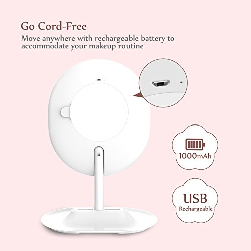Makeup Mirror Rechargeable Led Lighted With 1x 5
