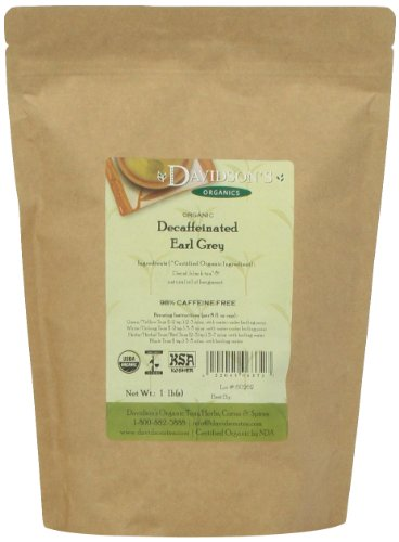 1 Lb Foil Bag (Davidson's Tea Bulk, Decaf Earl Grey, 1 lb Bag)