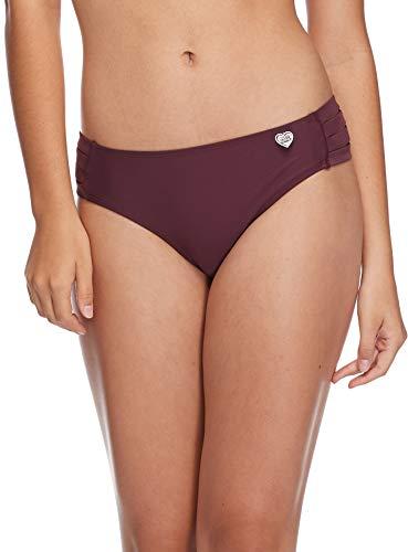 Body Glove Women's Smoothies Nuevo Contempo Solid Full Coverage Bikini Bottom Swimsuit, Porto, Large ()