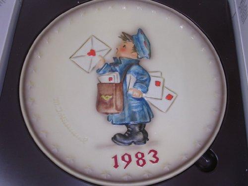 Hummel Goebel Bas Relief Annual Plate Mail Postman 1983