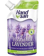 Hand san Mydło w płynie Natural Lavender, mydło do uzupełniania, z naturalnym olejkiem lawendowym, mydło w płynie do mycia rąk i oczyszczania twarzy, neutralne pH, 300 ml