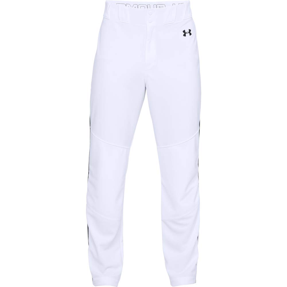 Under Armour Men's IL Utility Relaxed Pants Pipe, White (100)/Black, Small