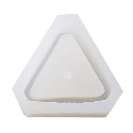 Healifty Triángulo Moldes de Silicona Moldes de Concreto Flor Multi Suculentas Plantas Cemento Maceta Molde Decorar