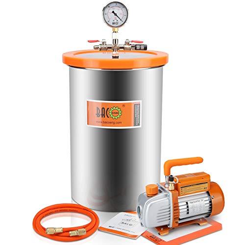 (BACOENG 5 Gallon Vacuum Chamber Kit with Vacuum Pump Standard HVAC)