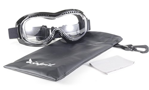 15eaed690f1 Pacific Coast Airfoil Padded  Fit Over Glasses  Riding Goggles (Black Frame  Clear