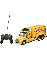 Lixiong Sheng 701A Container Truck with Remote Control for Boys - Yellow
