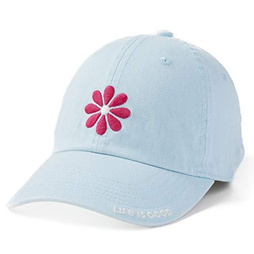 - Life is Good Chill Cap Baseball Hat Collection,Daisy Petal,Beach Blue