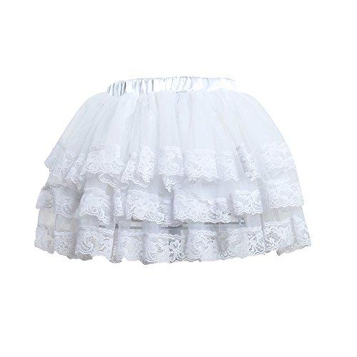 Cutelove Girls Lace Tutu Skirt Dress Up Princess Dance Tulle Puffy Skirts