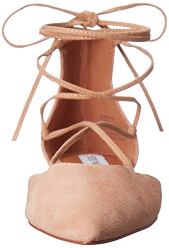 Steve Madden Mujeres de sol Pointed Toe plana marrón (Sand Suede)