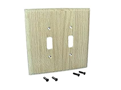 Leviton Unfinished Wood 2 Gang Switch Cover Wall Plate Switchplate