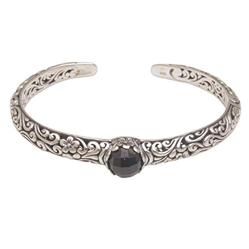 (NOVICA Onyx .925 Sterling Silver Cuff Bracelet, Forest Nymph')