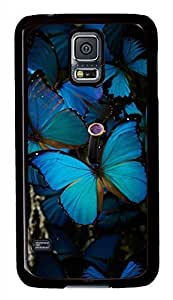 Beautiful Blue Butterfly 2 Black Hard Case Cover Skin For Samsung Galaxy is S5 contributing I9600 she &hong hong...