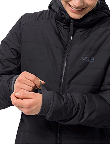 Jack Wolfskin Damen Maryland Coat Steppmantel Winddicht Wasserabweisend Atmungsaktiv Mantel, schwarz, XXL 3