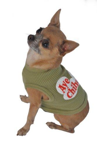 Doggie Tank Top, Aye Chihuahua, Green, Small by Ruff Ruff and Meow