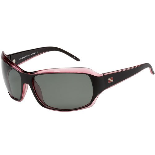100% Ultra Violet Polarized Dive Shades, Atlantic II style, - Black/Red