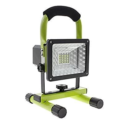 15w Waterproof Rechargeable Flood Light Portable Cordless Spot Lights LED Work Lights Trouble Light with Emergency SOS Mode, Built-in Lithium Batteries, Dual USB Ports to Charge Mobile Devices for Car Traveling, Fishing, Camping