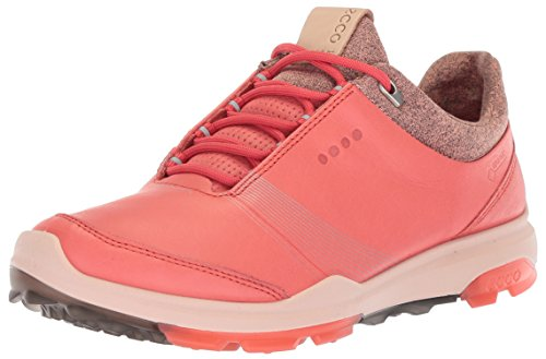 ECCO Women's Biom Hybrid 3 Gore-TEX Golf Shoe, Spiced Coral/Spiced Coral, 40 M EU (9-9.5 US) Pink Coral Inlay